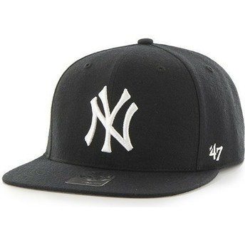 47 Brand Flat Brim Youth New York Yankees MLB Black Snapback Cap