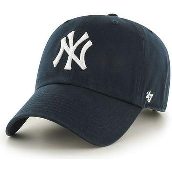 47 Brand Curved Brim Youth New York Yankees MLB Navy Blue Cap
