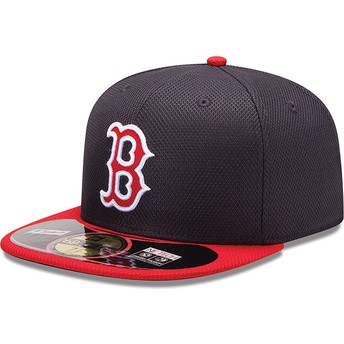 New Era Flat Brim 59FIFTY Diamond Era Boston Red Sox MLB Red Fitted Cap