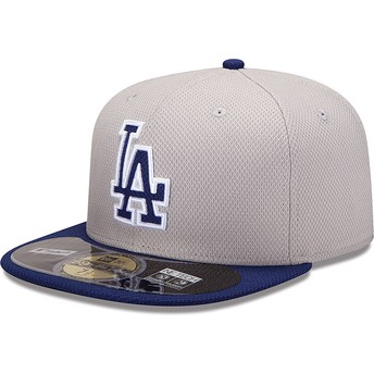 New Era Flat Brim 59FIFTY Diamond Era Los Angeles Dodgers MLB Blue Fitted Cap