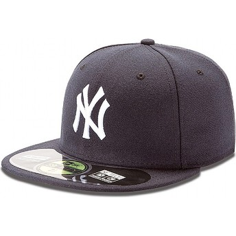 New Era Flat Brim 59FIFTY Authentic On-Field New York Yankees MLB Navy Blue Fitted Cap
