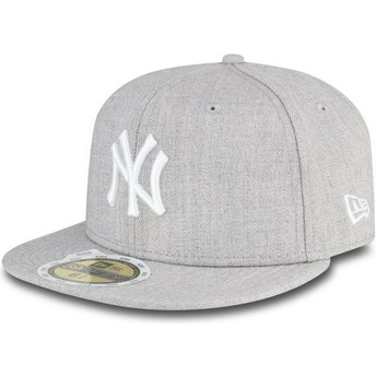 New Era Flat Brim Youth 59FIFTY Essential New York Yankees MLB Grey Fitted Cap
