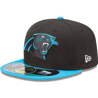 New Era Flat Brim 59FIFTY Authentic On-Field Game Carolina Panthers NFL Black Fitted Cap