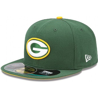 New Era Flat Brim 59FIFTY Authentic On-Field Game Green Bay Packers NFL Green Fitted Cap