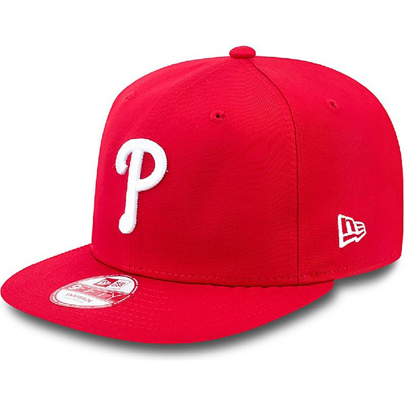 new-era-flat-brim-9fifty-essential-philadelphia-phillies-mlb-red-snapback-cap