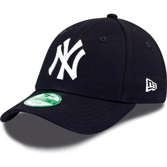 New Era Curved Brim Youth 9FORTY Essential New York Yankees MLB Navy Blue Adjustable Cap